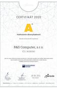 certifikat 2020 A RS Computer
